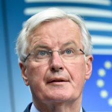 """M. Barnier: esama galimybių dar šią savaitę sudaryti """"Brexit"""" susitarimą"""