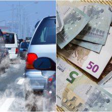 Valstybės kišenę jau papildė apie 11 mln. eurų taršių automobilių mokesčio