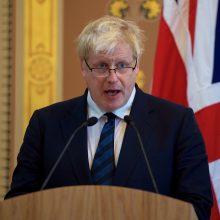 """B. Johnsonas: naują """"Brexit"""" planą pateiksime jau """"labai greitai"""""""