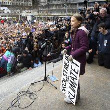 Artėjant forumui Davose, G. Thunberg prisijungė prie masinio protesto Šveicarijoje