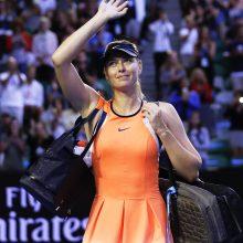 Tenisininkė M. Šarapova baigia sportinę karjerą