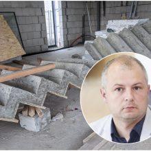 Pajūryje statomame aplinkos ministro name tiriamas galimas nelegalus darbas