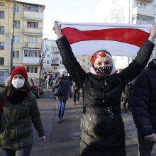 Įvairiuose Minsko rajonuose vyksta protestai: apie sulaikytuosius kol kas nepranešama