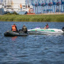 Klaipėdos pareigūnai eismo saugumą kontroliuoja ir vandenyje