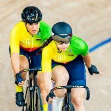 Dviratininkės S. Krupeckaitė ir M. Marozaitė olimpines žaidynes baigė sprinto varžybomis