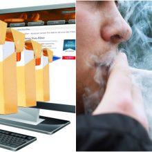 Naujas užmojis: blokuos rūkalus siūlančias interneto svetaines?