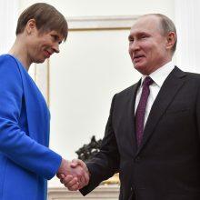 K. Kaljulaid susitiko su V. Putinu: siūlo atnaujinti ES ir Rusijos bendradarbiavimą