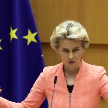 EK vadovė pažėrė kritikos Turkijai ir Rusijai