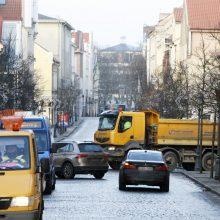 Klaipėdos senamiestyje nori trijų greičio matuoklių