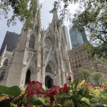 Vyras su dviem benzino kanistrais mėgino patekti į Šv. Patriko katedrą Niujorke