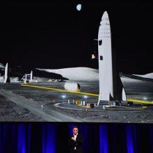 """Paaiškėjo, kur bus statomi """"SpaceX"""" erdvėlaiviai skrydžiams į Marsą"""