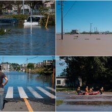 Skaičiuojamos didžiausio per dešimtmetį taifūno Japonijoje aukos: žuvo 19 žmonių