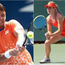 ATP teniso reitingas: R. Berankis smuktelėjo, J. Eidukonytė pakilo