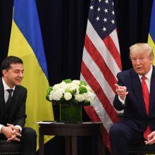 Baltieji rūmai siekė paslėpti D. Trumpo ir V. Zelenskio pokalbį?