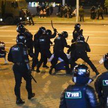 Baltarusijos VRM: jau gauta per 2 tūkst. skundų dėl teisėsaugininkų smurto