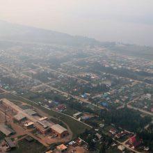 Sibiras dūsta nuo miškų gaisrų sukelto smogo