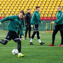 Lietuvos jaunimo futbolo rinktinė rengiasi pirmiesiems iššūkiams