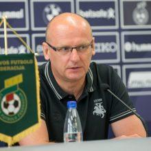 V. Urbonas: futbolo rinktinės sudėtis stabilizavosi