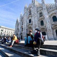 Italijoje per parą patvirtinti 16 377 nauji COVID-19 atvejai