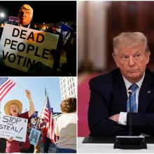 """D. Trumpas teigia laimėjęs JAV prezidento rinkimus: skanduojama """"tai dar ne viskas!"""""""
