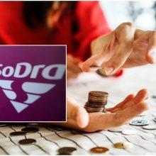 """Sodros"""" biudžeto perteklius kitąmet turėtų siekti 61,3 mln. eurų"""
