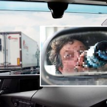 Kelte Klaipėdoje sulaikytas neblaivus vilkiko vairuotojas