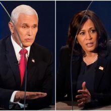 K. Harris ir M. Pence'o debatus stebėjo beveik 58 mln. televizijos žiūrovų