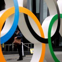 Japonijos ministras: bet kas gali nutikti su Tokijo olimpiada