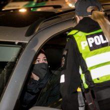 Trečiadienį dėl karantino draudimų nesilaikymo policija nubaudė 20 asmenų