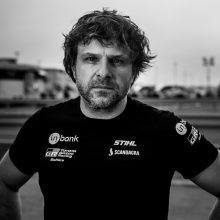 B. Vanagas pirmajame greičio ruože į finišą partempė V. Žalą