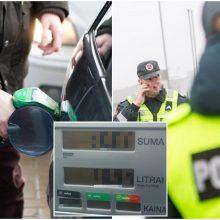 Neįprasta situacija: už degalus nesusimokėjęs vyras sulaukė pareigūnų pagalbos