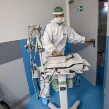 Santaros klinikose įrengiamos naujos reanimacijos vietos sunkiems COVID-19 pacientams