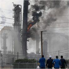 Netoli Hjustono esančioje gamykloje nugriaudėjo sprogimas, yra sužeistų