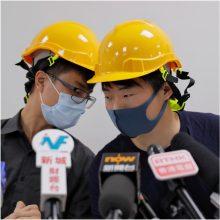 Honkongo protestuotojai surengė neįprastą spaudos konferenciją