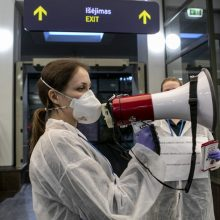 A. Šešelgis: bus stebimi iš Italijos atvykusių keleivių sveikatos pokyčiai
