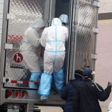 Sankt Peterburgo ligoninėje sudegė lavoninės šaldytuvas