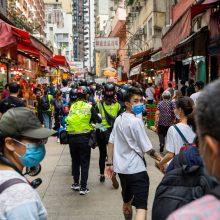 """ES: """"gyvybiškai svarbu"""", kad Honkonge būtų gerbiamos pagrindinės laisvės"""
