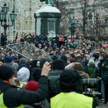 A. Navalno bendražygis ragina sekmadienį vėl išeiti protestuoti į gatves