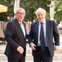 """B. Johnsonas susitiko su EK pirmininku: ar vis dar įmanoma susitarti dėl """"Brexit""""?"""