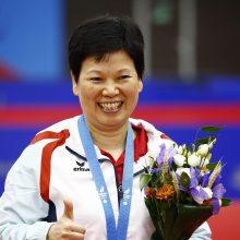 55 metų stalo tenisininkės triumfas Europos žaidynėse: laimėjo bronzos medalį