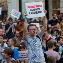 Maskvos valdžia leido surengti opozicijos mitingą: rems neįregistruotus kandidatus