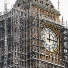 Londono Didžiojo Beno rekonstrukcijos kaštai auga