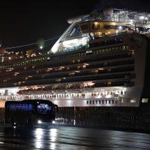 Japonijoje kruiziniame laive dar 99 žmonėms diagnozuotas koronavirusas