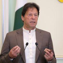 """Pakistano premjeras ragina musulmoniškas šalis kovoti su """"islamofobija"""" Europoje"""