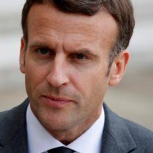 Prancūzijos prezidentas E. Macronas nori padėti nuraminti Izraelio ir palestiniečių konfliktą
