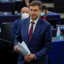 V. Dombrovskis: JAV turi imtis konkrečių veiksmų dėl transatlantinių prekybos įtampų numalšinimo