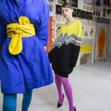 Ryšku: spalvingos pėdkelnės gali papildyti įvaizdį arba tapti išskirtiniu jo akcentu.