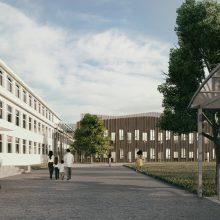 Jungtis: senąjį ir naująjį pastatus sujungs naujai įrengtas jungiamasis korpusas.