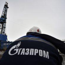 """""""Gazprom"""" spaus Ukrainą pasirašyti trumpalaikę tranzito sutartį"""