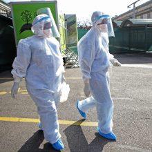 JAV koronaviruso infekcija per parą nustatyta beveik 60 tūkst. žmonių